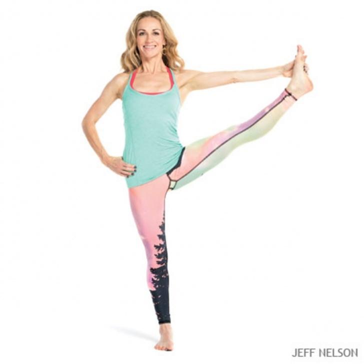 popular yoga poses on one leg photo