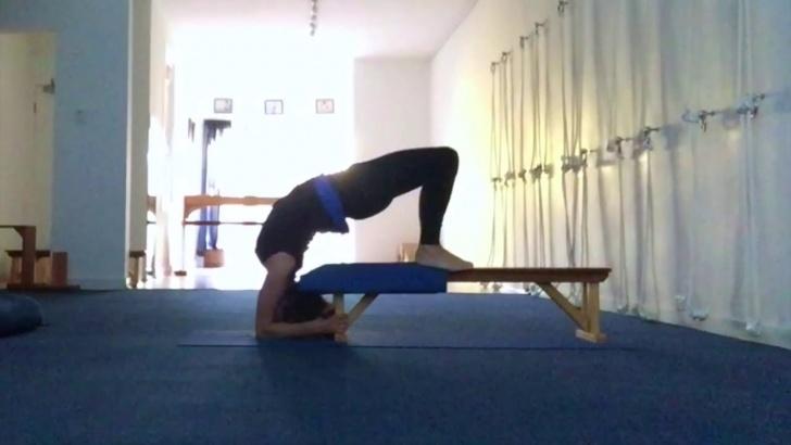 popular yoga poses viparita dandasana bench pictures