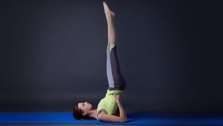 popular yoga poses viparita karani asana photos