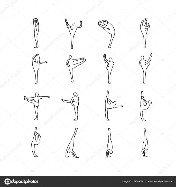 popular yoga positions drawing picture