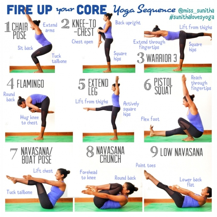 popular yoga sequence core pictures