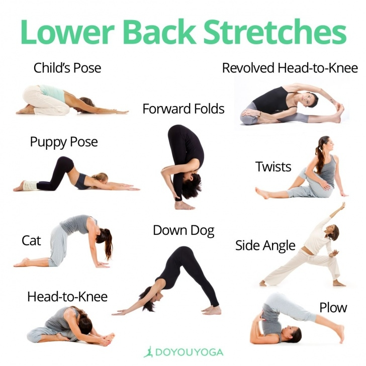 popular yoga stretches lower back photos