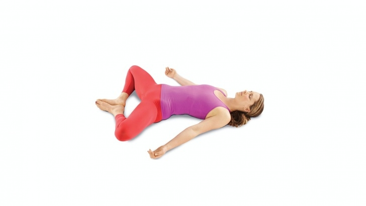 simple reclined butterfly pose photo