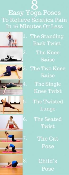 simple yoga exercises for sciatica photo