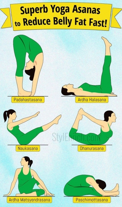 simple yoga poses for belly fat image