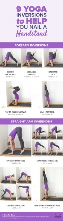 simple yoga poses headstand with wall images