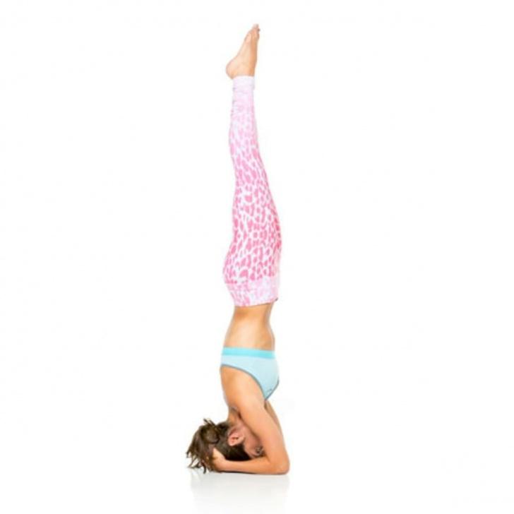 simple yoga poses sirsasana in english image
