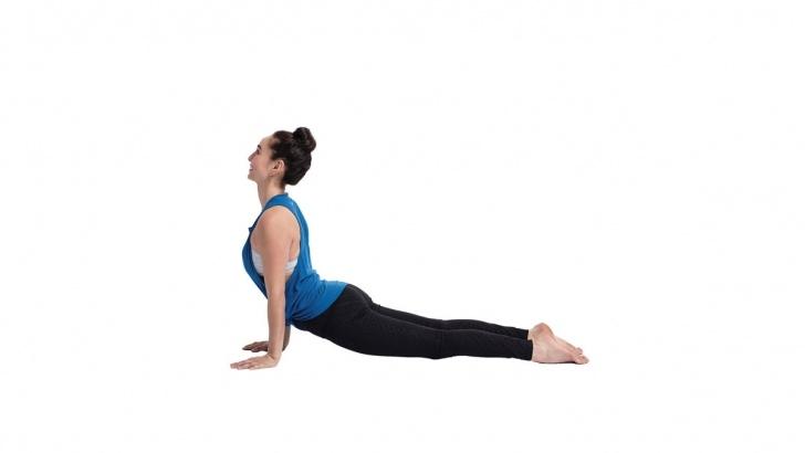 simple yoga poses upward dog reflection photo