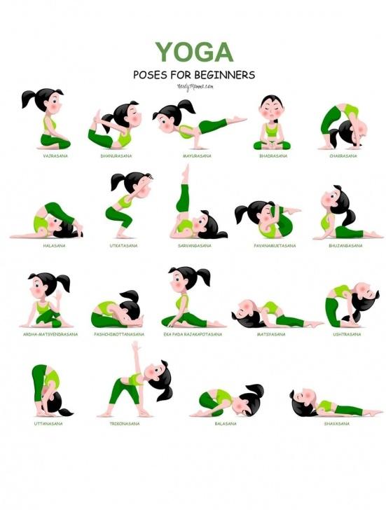 top basic yoga poses chart image