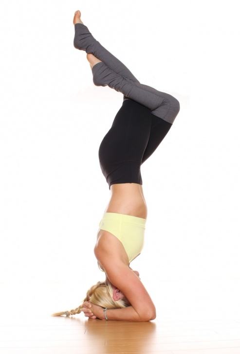 top headstand pose yoga image