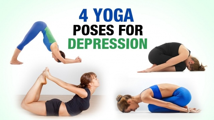 top yoga poses for depression images