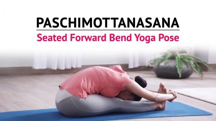 top yoga poses paschimottanasana benefits in hindi picture